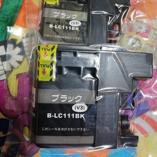ブラザー(brother)のブラザー LC 111  ブラック2個 互換インク(PC周辺機器)