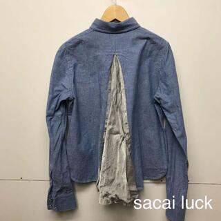 サカイラック(sacai luck)の美品 sacai luck サカイラック バックキュプラ BDシャツ(シャツ/ブラウス(長袖/七分))