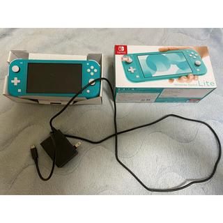 ニンテンドースイッチ(Nintendo Switch)の【条件付き値下げ可能】Nintendo switch lite ターコイズブルー(携帯用ゲーム機本体)