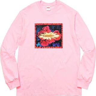 シュプリーム(Supreme)のsupreme Bloom L/S Tee  ピンクL 美品(Tシャツ/カットソー(七分/長袖))