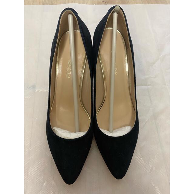 TOMORROWLAND(トゥモローランド)の美品 carino カリーノ パンプス ネイビー 滑り止め付き レディースの靴/シューズ(ハイヒール/パンプス)の商品写真