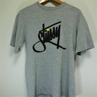 ステューシー(STUSSY)の【美品】STUSSY 半袖Tシャツ グレー Sサイズ(Tシャツ/カットソー(半袖/袖なし))