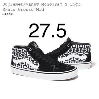 Supreme - Supreme Vans Monogram S Logo Black 27.5