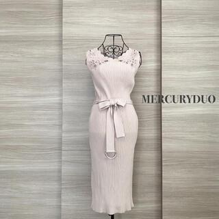 MERCURYDUO - MERCURYDUO マーキュリーデュオ スカラレース刺繍ニットワンピース