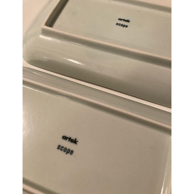 アルテック scope 長角皿 2枚 東屋 インテリア/住まい/日用品のキッチン/食器(食器)の商品写真