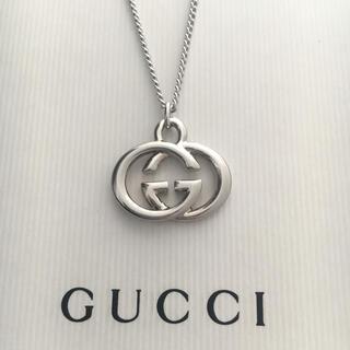 Gucci - GUCCIインターロッキングgチャーム/社外ステンレス喜平チェーン