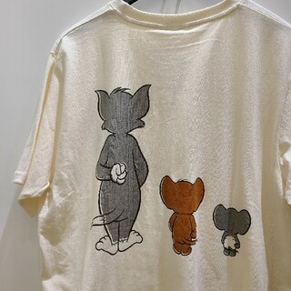 新品 4L 刺繍 トムとジェリー ニブルス Tシャツ メンズ かわいい