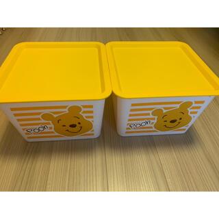 ディズニー(Disney)の【美品】DAISO プーさん Winnie the Pooh 蓋つきBOX 4個(ケース/ボックス)
