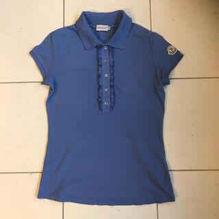 モンクレール(MONCLER)のモンクレール ポロシャツ レディース 水色 XS  ブルー(ポロシャツ)