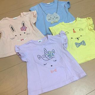 アカチャンホンポ - 女の子 パフスリーブ Tシャツ 80 4枚セット
