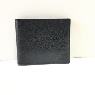 デュポン(DuPont)のDupont(デュポン) 札入れ美品  - 黒 レザー(財布)