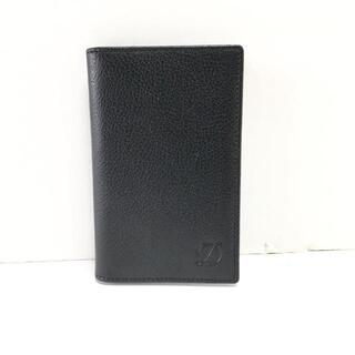 デュポン(DuPont)のデュポン カードケース - 黒 レザー(名刺入れ/定期入れ)