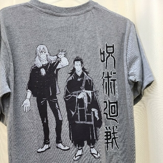 新品 呪術廻戦 真人 夏油傑 Tシャツ メンズ グレー じゅじゅつかいせん m(その他)