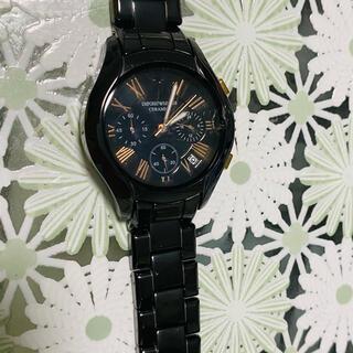 アルマーニ(Armani)のエンポリオアルマーニ腕時計/レディース/AR1411/ブラックダイアル(腕時計(アナログ))