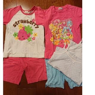 西松屋 - 120女の子半袖パジャマ二枚セット