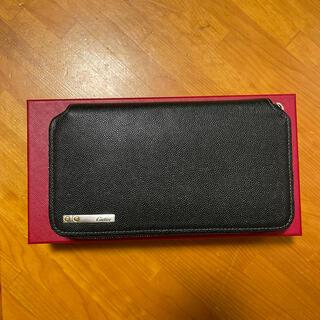 カルティエ(Cartier)のCartier サントス ドゥ カルティエ ラウンドファスナー 長財布(長財布)