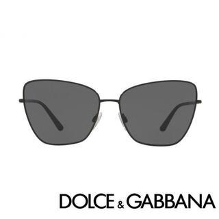 ドルチェアンドガッバーナ(DOLCE&GABBANA)の新品 ドルチェ&ガッバーナ サングラス キャットアイ レクタンギュラー 黒(サングラス/メガネ)