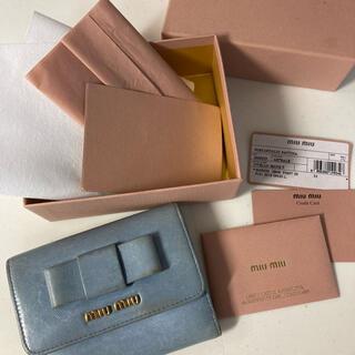 miumiu - miumiu二つ折り財布