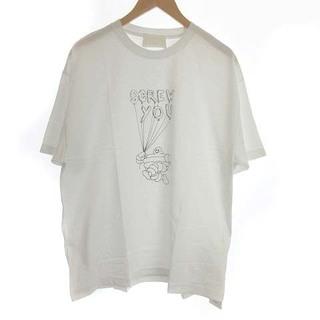 アンユーズド(UNUSED)のアンユーズド × T-bone Tシャツ カットソー 半袖 3 L 白(Tシャツ/カットソー(半袖/袖なし))