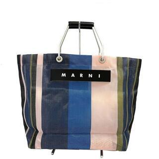 マルニ(Marni)のMARNI(マルニ) トートバッグ - ストライプ(トートバッグ)
