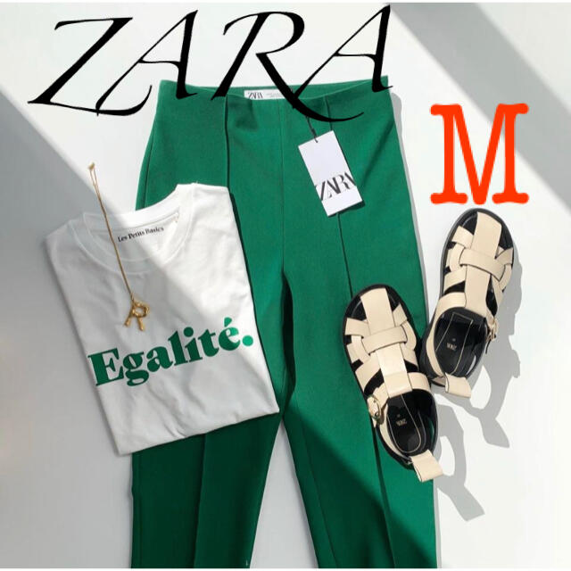 ZARA(ザラ)のZARA ダーツ入りハイウエストパンツ  レディースのパンツ(カジュアルパンツ)の商品写真