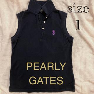 PEARLY GATES - パーリーゲイツ ノースリーブ シャツ ゴルフウエア ポロシャツ レディース