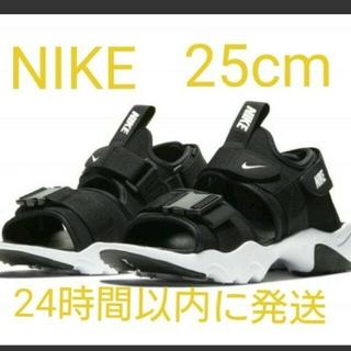 NIKE - NIKE ナイキ キャニオン レディース 厚底サンダル ブラック 25.0cm