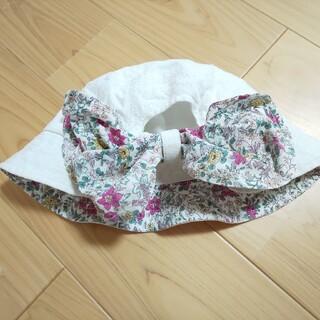 ブランシェス(Branshes)のブランシェス 帽子 女の子 日除けつき 花柄(帽子)