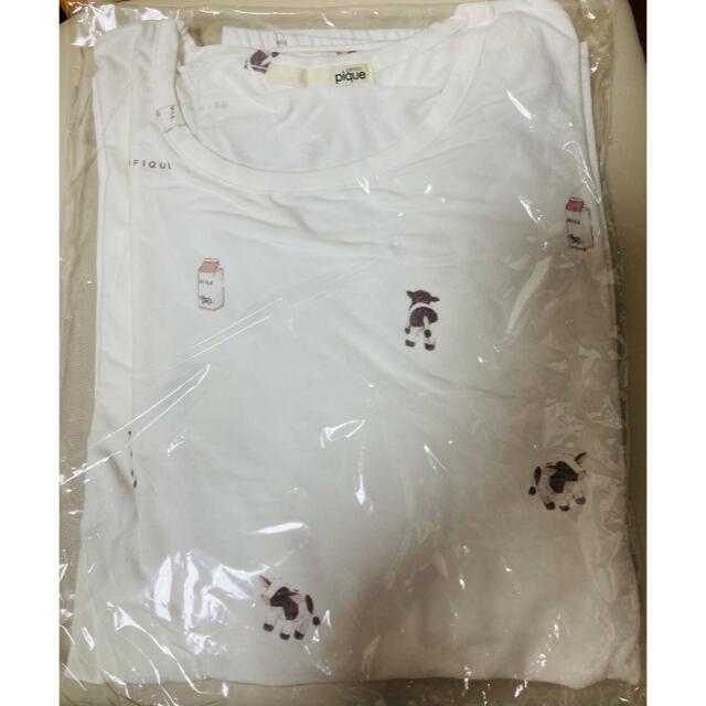 gelato pique(ジェラートピケ)のジェラートピケ 福袋 長袖 パジャマ 牛柄 レディースのルームウェア/パジャマ(ルームウェア)の商品写真