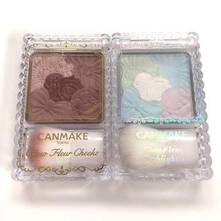 キャンメイク(CANMAKE)の美品 2点セット CANMAKE チーク&ハイライト(その他)