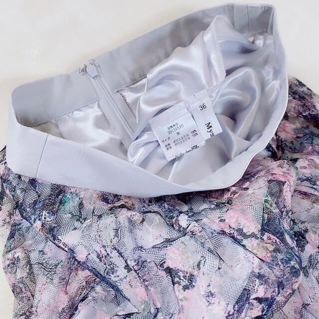 Mystrada(マイストラーダ)の【新品】Mystrada✧アートフラワープリーツスカート  レディースのスカート(ロングスカート)の商品写真