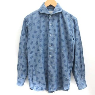 オリアン(ORIAN)のオリアン ORIAN M シャツ ホリゾンタルカラー 花柄 長袖 青 ブルー (シャツ)