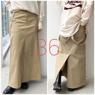 アパルトモンドゥーズィエムクラス(L'Appartement DEUXIEME CLASSE)の【最終価格!】未使用*GOOD GRIEF Chino Skirt《36》(ロングスカート)