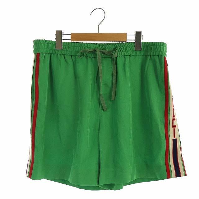Gucci(グッチ)のグッチ 2018年製 ハーフパンツ ショートパンツ ロゴ イージー 52 緑  メンズのパンツ(ショートパンツ)の商品写真