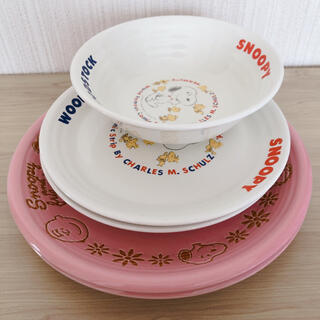 ピーナッツ(PEANUTS)の食器 スヌーピー プレート&サラダボウル woodstock ウッドストック(食器)