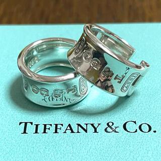 Tiffany & Co. - ティファニー 1837 ナロー ワイド フープピアス スターリングシルバー925