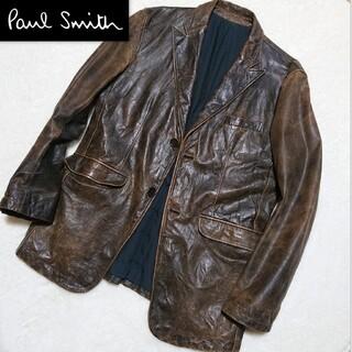 Paul Smith - Paul Smith❇️ヴィンテージ加工 水牛 レザージャケット 本革