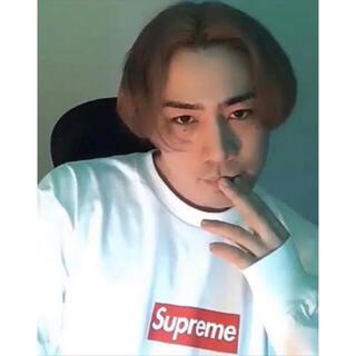シュプリーム(Supreme)の試着なし L Supreme Box Logo L/S Tee White(Tシャツ/カットソー(七分/長袖))