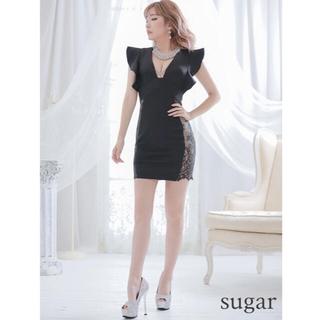 AngelR - ワイドフリルスリーブレースデザインドレス