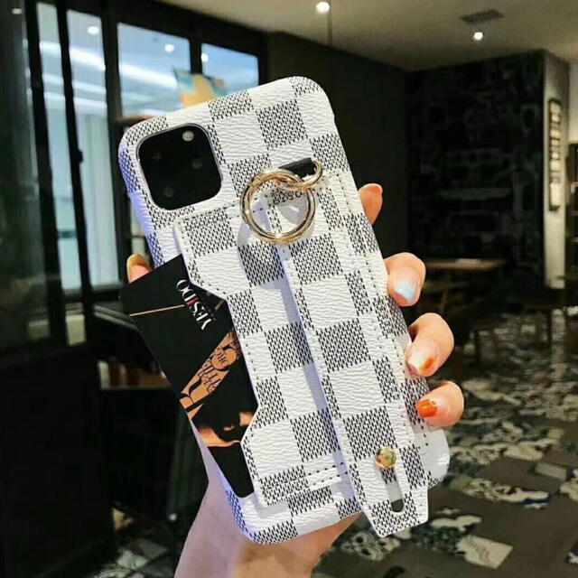 iPhone(アイフォーン)の《大人気》iPhone12 12pro ケース iPhone 格子柄 大人可愛い スマホ/家電/カメラのスマホアクセサリー(iPhoneケース)の商品写真