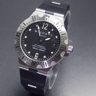 ブルガリ(BVLGARI)の美品ブルガリ SD40S ディアゴノ スクーバ 40㎜サイズ 300M防水 自動(腕時計(アナログ))