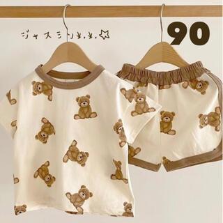 90 くまちゃん 半袖 パジャマ 韓国子供服