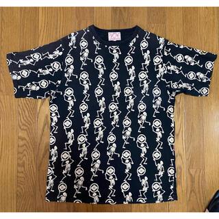 エビス(EVISU)のEVISU 総柄 和柄 ドクロ 半袖Tシャツ 42(Tシャツ/カットソー(半袖/袖なし))
