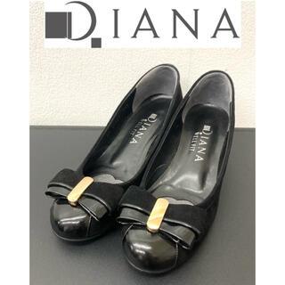 DIANA - DIANA ダイアナ パンプス スエード生地 美品 リボン