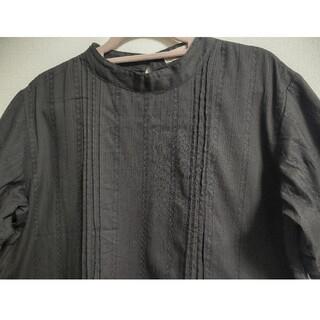 SM2 - ☆サマンサモスモスSM2☆スタンドカラー刺繍半袖ブラウス 黒 スミクロ  フリー