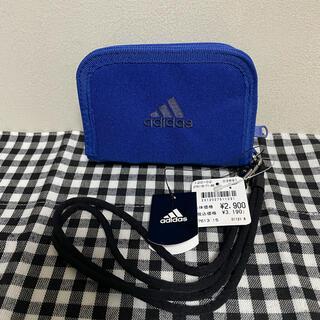アディダス(adidas)の新品★アディダス折り財布【ブルー】adidas(折り財布)