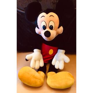 Disney - 【特大】ミッキーマウスのぬいぐるみ 全長約90㎝ レトロ 眉あり かわいい表情!
