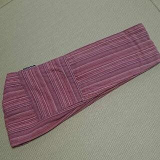 アコアコスリング  サイズS ポケット付き 朱赤×灰桜