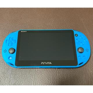 プレイステーションヴィータ(PlayStation Vita)の【美品】PlayStationVITA アクアブルー(携帯用ゲーム機本体)