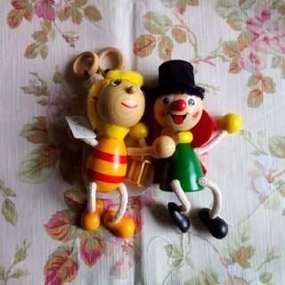 チェコ バネ付木のおもちゃセット(キャラクターグッズ)